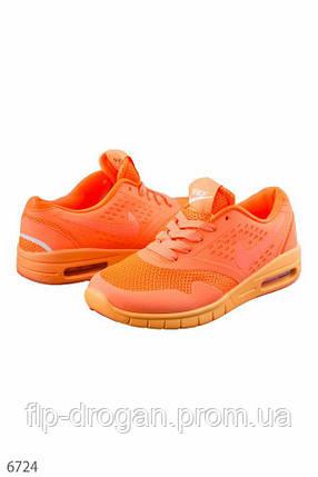 Кроссовки оранжевые на шнуровке! 36 37, фото 2