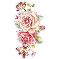 """Татуювання - наклейка """"Троянди"""""""