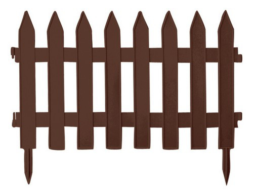Садовое ограждение GRADEN CLASSIC - коричневый, 3,6 м