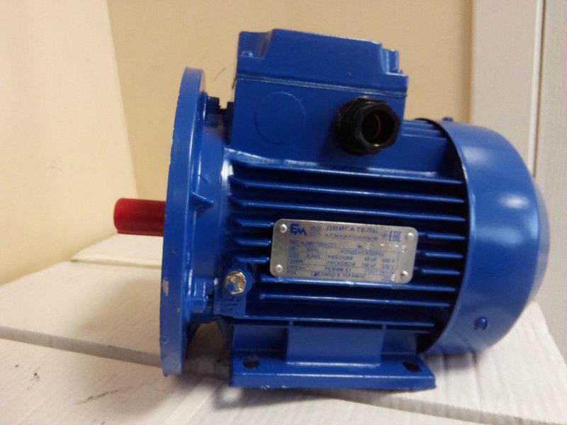 Электродвигатель 380 АИР 63 В2  0,55 кВт 3000 об/мин
