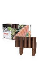 Бордюр садовый PALISADA - коричневый, 2,4 м