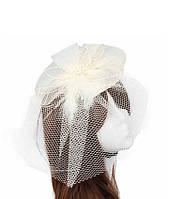 Свадебная шляпка с вуалью А-1030