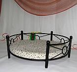 Лежак для домашних животных кованый угловой, фото 2