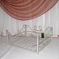 Лежак для домашних животных кованый белый, фото 1