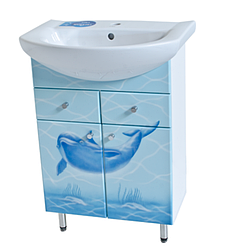 Тумба для ванной Дельфин