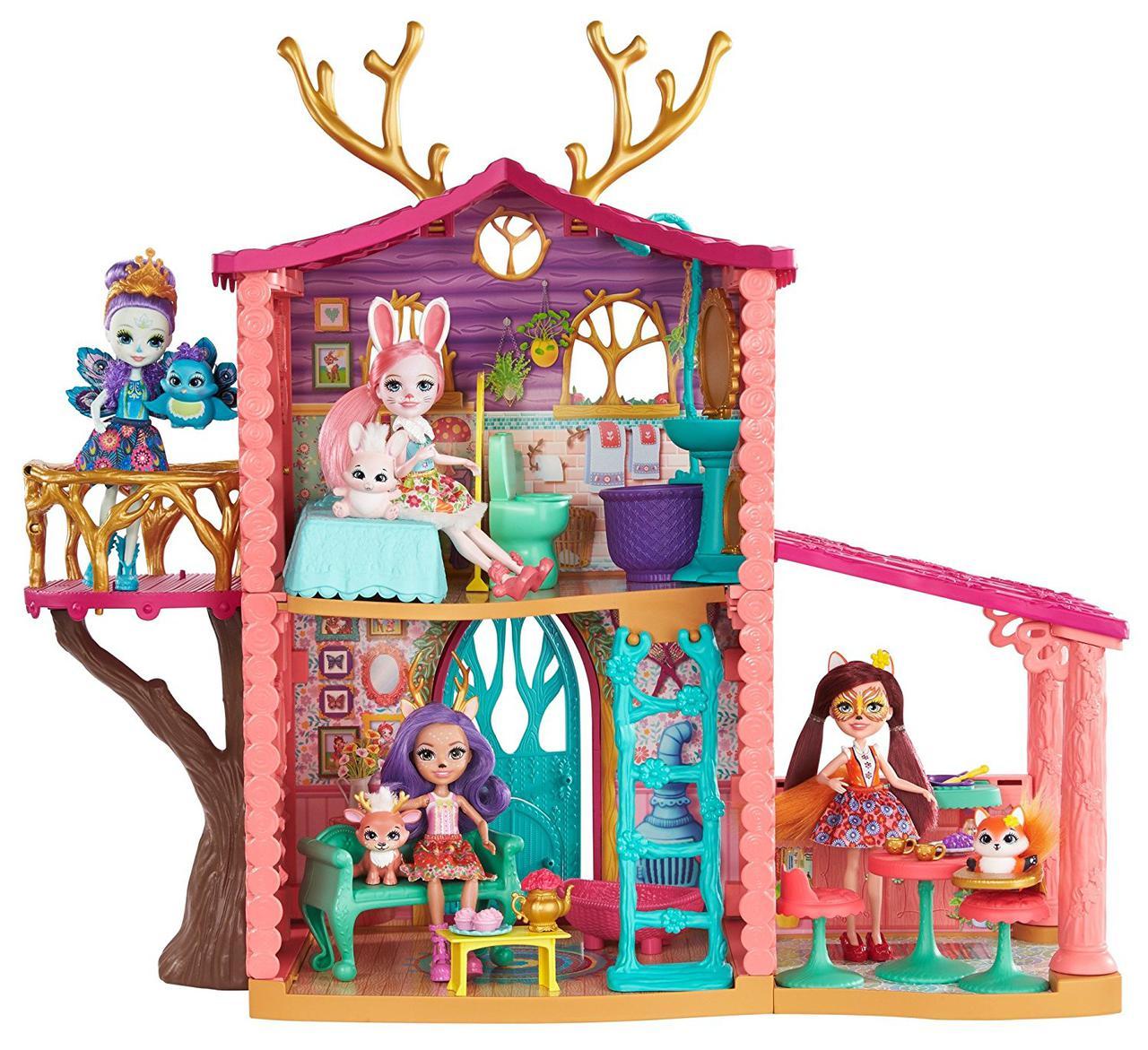 Игровой набор Enchantimals Лесной домик Оленицы Денисы FRH50