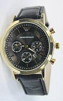 Мужские наручные часы Emporio Armani Серебристый Коричневый Коричневый c641e756dd5