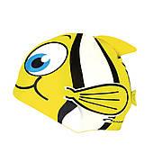 Детская шапочка для бассейна рыбка Spokey Rybka (original) желтая