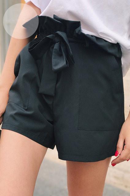 Шорты женские из костюмной ткани с завышеной талией (К23494)