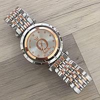 Женские наручные часы Pandora (Пандора),серебристо - золотой корпуси белый циферблат