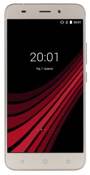Смартфон на 2 сим карты экран 5,5 дюймов 1/8Gb ERGO A556 Blaze золотой