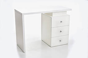 Стол маникюрный Glossy Белый, ручки Круглые (Markson TM)