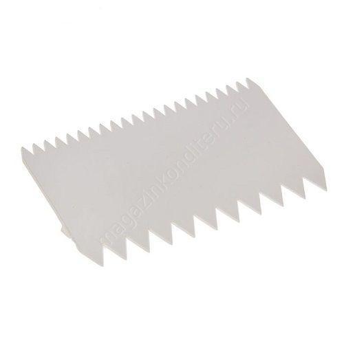 Скребок для крема и теста гребешок узкий. 11/7 см  Галетте - 01378