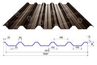 Сталекс Профнастил ПН-44 0,40 PE RAL 8017 Сировина Optima Steel