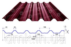 Сталекс Профнастил ПН-44 0,40 PE RAL 3005 Сировина Optima Steel