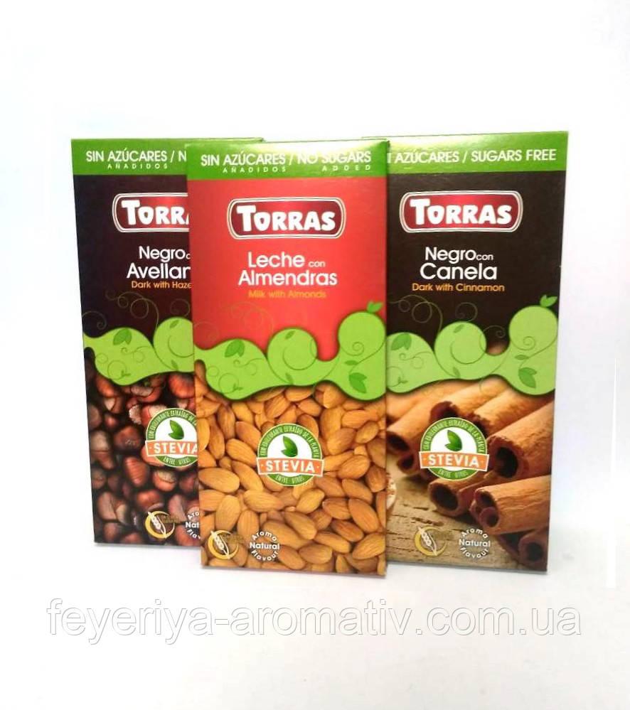 Шоколад без сахара и глютена Torras 125гр (Испания)