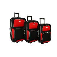 Чемодан сумка RGL Travel 310 набор 3 штуки черно-красный, фото 1
