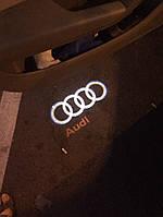 Подсветка диодная led дверей Audi Ауди штатная с логотипом проекция А4 А5 А6 А3 А1 Q7 Q5
