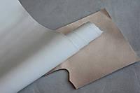 Натуральная кожа для кожгалантереи и обуви белая, толщина 1.4 мм, арт. СК 2101