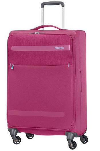 Средний текстильный чемодан на 4-х колесах American Tourister Herolite