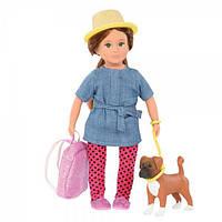Кукла LORI 15 см Надин и собака боксер Наш LO31024Z