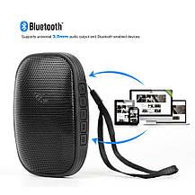 Портативная Bluetooth колонка с FM тюнером и встроенным микрофоном черная, фото 3