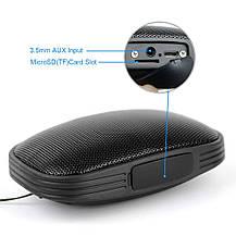 Портативная Bluetooth колонка с FM тюнером и встроенным микрофоном черная, фото 2