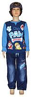 Детские джинсы для мальчика 0411 Тачки на 3 года, весна-осень