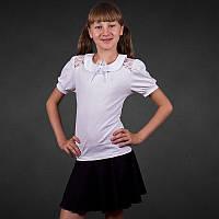 Блузы трикотажные для детей / школьные короткий рукав