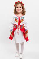 """Платье костюм вышиванка для девочки """"Васильковые мечты"""""""