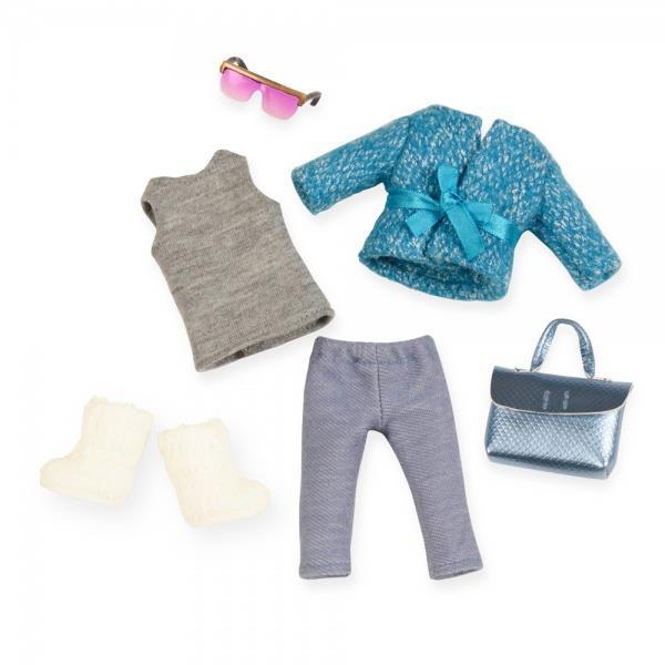 Набор одежды для кукол LORI голубое пальто LO30005Z