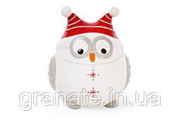 Банка керамическая с крышкой Сова в шапке 1.3л, цвет - белый