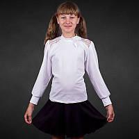 Красивые блузы трикотажные для детей / школьные длинный рукав