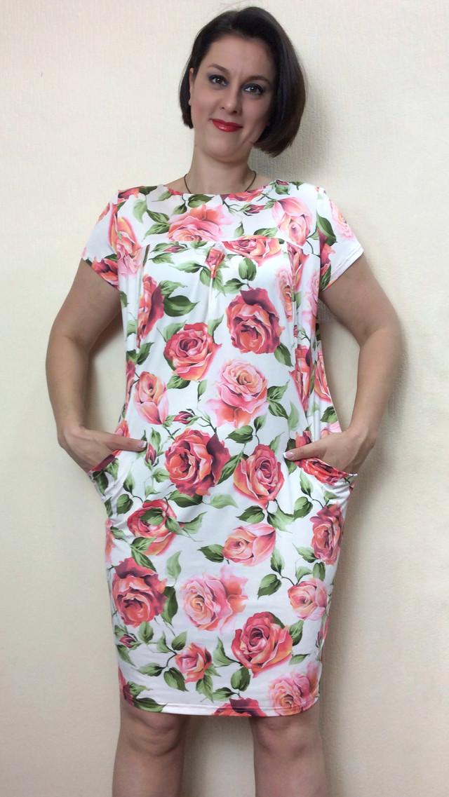 Летнее платье с карманами из масла П57