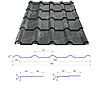 Сталекс Металлочерепица AFINA 350/20 0,45*1185 PEMA RAL 7024 Сировина Optima Steel