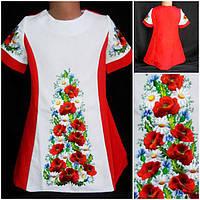 Вышитое  платье для девочки 146-152, фото 1