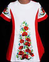 Вышитое  платье для девочки 116-134, фото 1