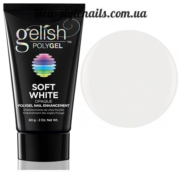 Gelish PolyGel Soft White(белый), 30 грамм
