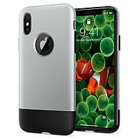 Чехол Spigen для iPhone X Classic One, Gray+Black (057CS23345)