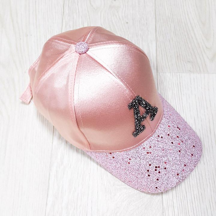 Кепка атласная розовая 501-14