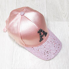 Кепка атласная розовая 501-14, фото 2