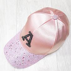 Кепка атласная розовая 501-14, фото 3