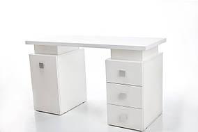 Стол маникюрный на 2 тумбы Триумф ДСП Белый, ручки Триумф (Markson TM)