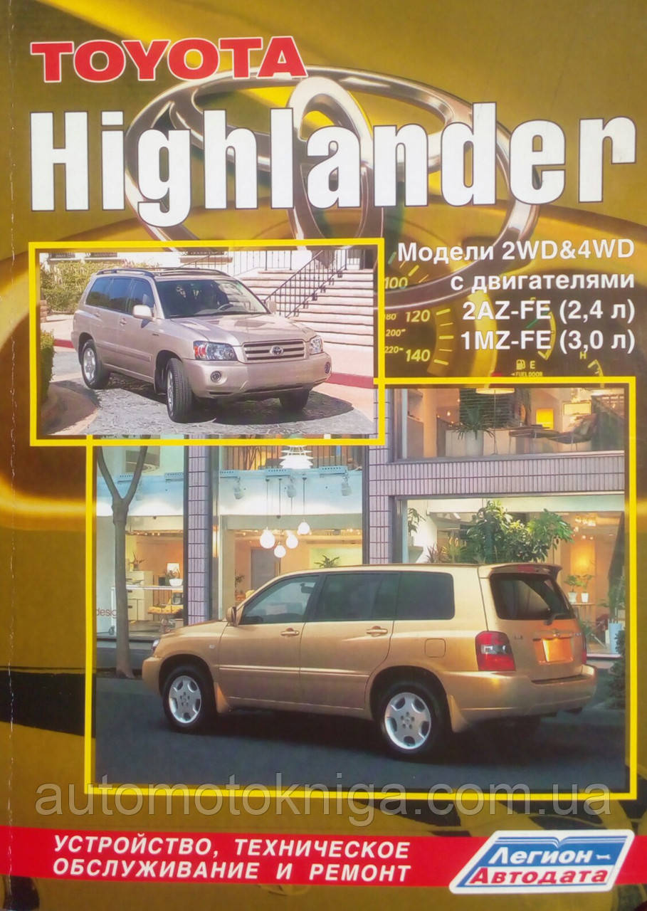 TOYOTA HIGHLANDER   Модели 2WD & 4WD   Руководство по ремонту и эксплуатации