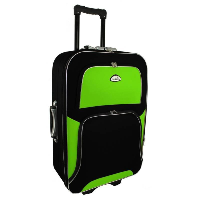 Чемодан сумка RGL Travel 310 (большой) черно-салатовый