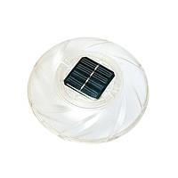 Лампа-поплавок для бассейна Bestway 58111, плавающий прожектор на солнечной батарее