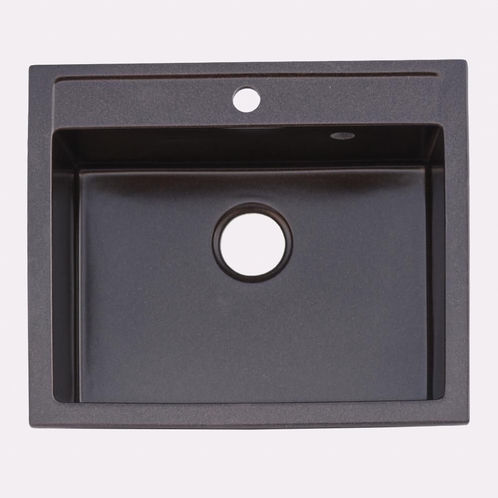 Гранитная мойка Platinum 5850 IRENA глянец шоколад