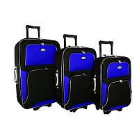 Чемодан сумка RGL Travel 310 набор 3 штуки черно-синий, фото 1