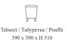 Табурет /кожа или ткань элит/ Venetia Simex