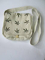 Сумка женская из конопляной ткани «Листья»